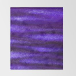 Blue Violet Celestial Bodies Throw Blanket