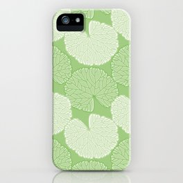 Garden Geranium Foliage Pattern iPhone Case