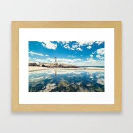 Lighthouse Day Framed Art Print
