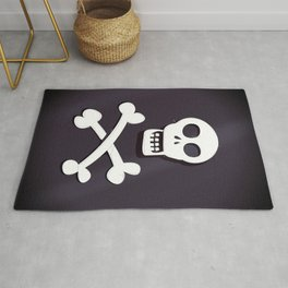 Pirate Skull and crossbones flag Rug