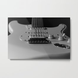 Stratocaster in Shadow Metal Print