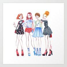 Girls girls girls Art Print