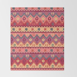 Ethnic native pattern Throw Blanket