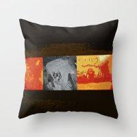 simba Throw Pillows featuring SIMBA by David Hinnebusch