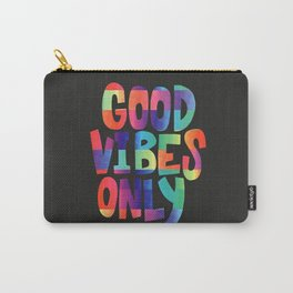 Good Vibes Only (Black) Carry-All Pouch