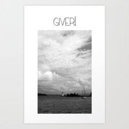 Giver Baddeck! Art Print