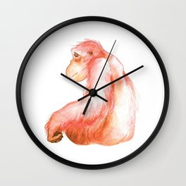 Elka, Orangutan Watercolor Wall Clock