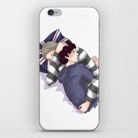 johnlock iPhone & iPod Skins featuring John & Sherlock by Arisu