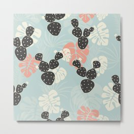 Tropical pattern 052 Metal Print