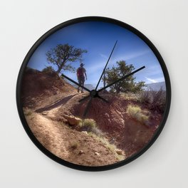 The Hiker Wall Clock