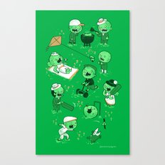 Lawn of the dead Canvas Print