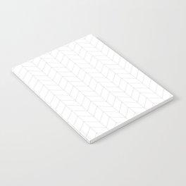 Herringbone Black and White Notebook