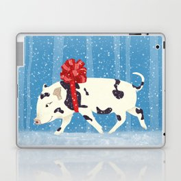 Cute Little Pig Holiday Design Laptop & iPad Skin