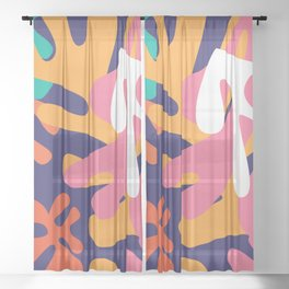 Matisse Pattern 010 Sheer Curtain