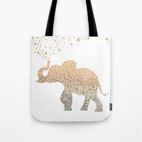elephant Tote Bags featuring ELEPHANT by Monika Strigel®