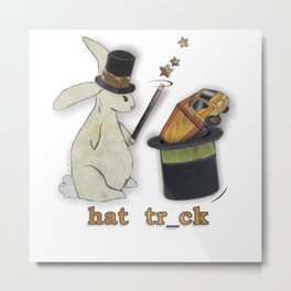 hat trick - truck - both: missing letters series by JRombach Metal Print