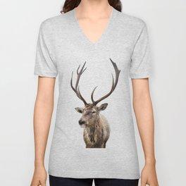 Deer Print, photo print Unisex V-Neck