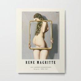 Poster-Rene Magritte-Les liasons dangereuses. Metal Print