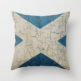 Vintage Scotland flag Throw Pillow