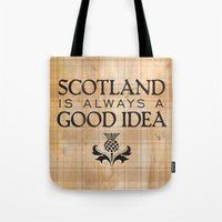 scotland Tote Bags featuring Scotland Trip by The History Witch