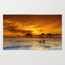 A Winter's Dip * Huntington Beach, California Rug
