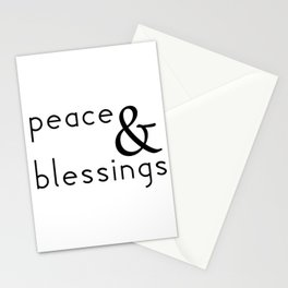 Peace & Blessings Stationery Cards