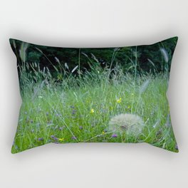 Field of flowers and Dandelions (2) Rectangular Pillow