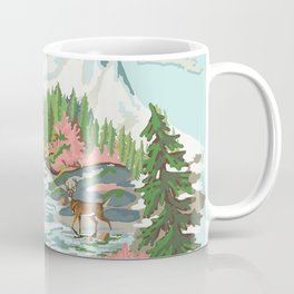 Paint by Number Mountain Medow Coffee Mug