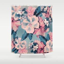 Vintage Nui Loa Hibiscus Shower Curtain