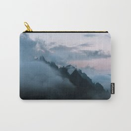 Dolomite Mountains Sunset covered in Clouds - Landscape Photography Carry-All Pouch
