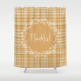 Autumn Weave Thankful Shower Curtain