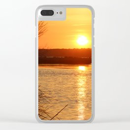Topsail Island Sunset Clear iPhone Case