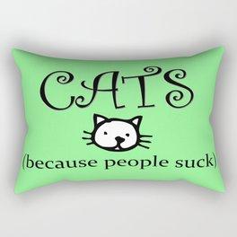 Cats because People Suck Rectangular Pillow