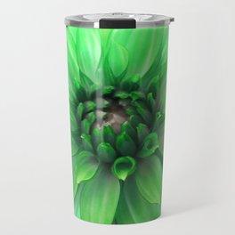 Green Dahlia Travel Mug