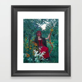 The Woman of Wands Framed Art Print