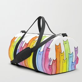 Rainbow of Cats Funny Whimsical Animals Duffle Bag