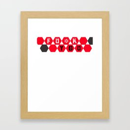 fuck you pattern Framed Art Print