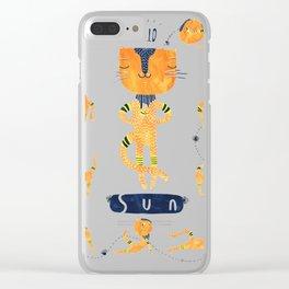 Yogini Cat Clear iPhone Case