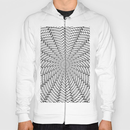sweeping black and white 3 Hoody