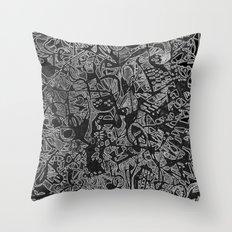 White/Black #3 Throw Pillow