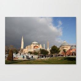 Clouds Over Hagia Sofia Canvas Print