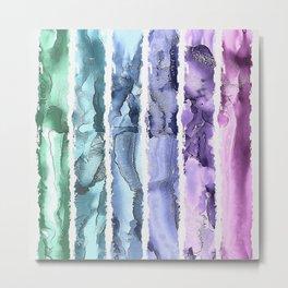 Colorful Painted Stripes Metal Print
