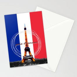 Peace and Love in France Stationery Cards