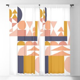 Small Shapes in Earthy Colors Blackout Curtain