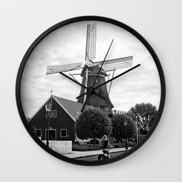 Amsterdam Windmill Girl Wall Clock