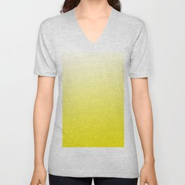 Simply sun yellow color gradient - Mix and Match with Simplicity of Life Unisex V-Neck