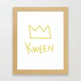 Kween Crown Framed Art Print
