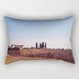 Winter morning in the vineyards of Collio, Italy Rectangular Pillow