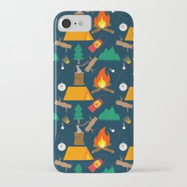 Let's Explore The Great Outdoors - Dark Blue iPhone Case