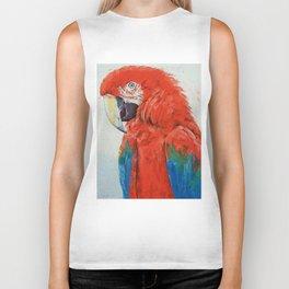 Crimson Macaw Biker Tank